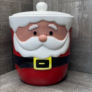 Christmas Santa Claus canister cookie jar canister